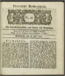 Thornische Wochenschrift 1825, Nro. 25 + Beilage