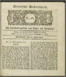 Thornische Wochenschrift 1825, Nro. 26 + Beilage