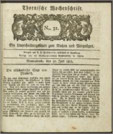 Thornische Wochenschrift 1825, Nro. 31 + Beilage