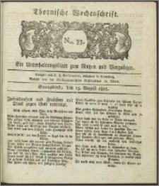 Thornische Wochenschrift 1825, Nro. 33