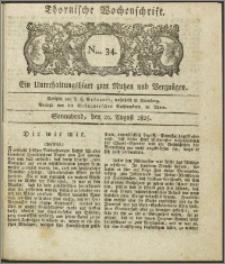 Thornische Wochenschrift 1825, Nro. 34 + Beilage