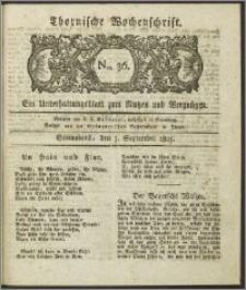 Thornische Wochenschrift 1825, Nro. 36 + Beilage