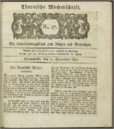 Thornische Wochenschrift 1825, Nro. 37 + Beilage