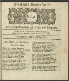 Thornische Wochenschrift 1825, Nro. 41 + Beilage