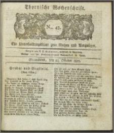 Thornische Wochenschrift 1825, Nro. 43 + Beilage