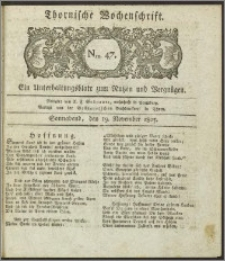 Thornische Wochenschrift 1825, Nro. 47