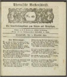 Thornische Wochenschrift 1825, Nro. 49 + Beilage