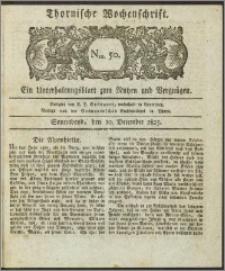 Thornische Wochenschrift 1825, Nro. 50 + Beilage