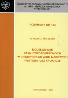 Modelowanie pasm izotopomerowych w interpretacji widm masowych - metoda i jej aplikacje