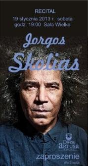Jorgos Skolias : recital 19 stycznia 2013 r. : zaproszenie dla 2 osób
