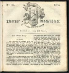 Thorner Wochenblatt 1835, Nro. 16 + Beilage