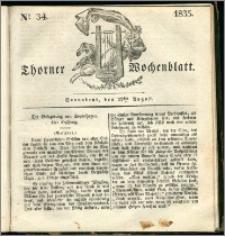 Thorner Wochenblatt 1835, Nro. 34 + Beilage, Zweite Beilage