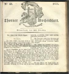 Thorner Wochenblatt 1835, Nro. 41 + Beilage