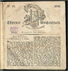 Thorner Wochenblatt 1836, Nro. 29 + Beilage, Thorner wöchentliche Zeitung
