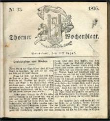 Thorner Wochenblatt 1836, Nro. 33 + Beilage, Thorner wöchentliche Zeitung
