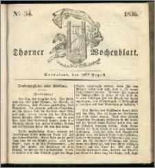 Thorner Wochenblatt 1836, Nro. 34 + Beilage, Thorner wöchentliche Zeitung