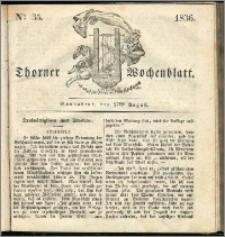 Thorner Wochenblatt 1836, Nro. 35 + Beilage, Zweite Beilage, Thorner wöchentliche Zeitung