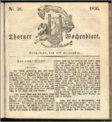 Thorner Wochenblatt 1836, Nro. 38 + Beilage, Thorner wöchentliche Zeitung