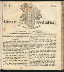 Thorner Wochenblatt 1836, Nro. 42 + Beilage, Thorner wöchentliche Zeitung