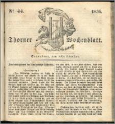 Thorner Wochenblatt 1836, Nro. 44 + Beilage, Thorner wöchentliche Zeitung