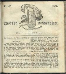 Thorner Wochenblatt 1836, Nro. 45 + Beilage, Thorner wöchentliche Zeitung
