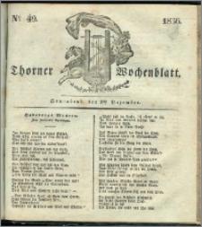 Thorner Wochenblatt 1836, Nro. 49 + Beilage, Thorner wöchentliche Zeitung