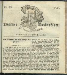 Thorner Wochenblatt 1836, Nro. 50 + Beilage, Zweite Beilage, Thorner wöchentliche Zeitung