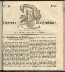 Thorner Wochenblatt 1836, Nro. 51 + Beilage, Zweite Beilage, Thorner wöchentliche Zeitung