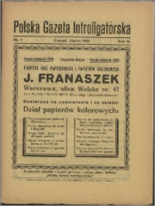 Polska Gazeta Introligatorska 1929, R. 2 nr 7