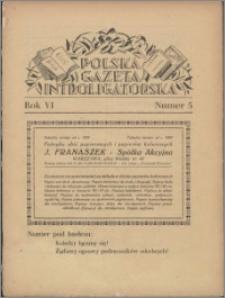 Polska Gazeta Introligatorska 1933, R. 6 nr 5