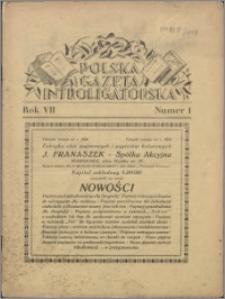 Polska Gazeta Introligatorska 1934, R. 7 nr 1