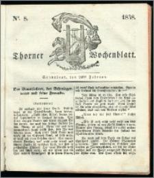 Thorner Wochenblatt 1838, Nro. 8 + Beilage, Thorner wöchentliche Zeitung