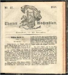 Thorner Wochenblatt 1838, Nro. 47 + Beilage, Thorner wöchentliche Zeitung