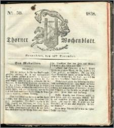 Thorner Wochenblatt 1838, Nro. 50 + Beilage, Thorner wöchentliche Zeitung