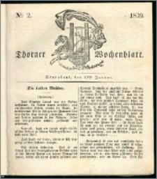 Thorner Wochenblatt 1839, Nro. 2 + Beilage, Zweite Beilage, Thorner wöchentliche Zeitung
