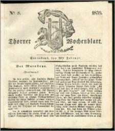 Thorner Wochenblatt 1839, Nro. 8 + Beilage, Thorner wöchentliche Zeitung