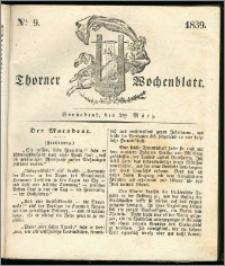 Thorner Wochenblatt 1839, Nro. 9 + Beilage, Thorner wöchentliche Zeitung