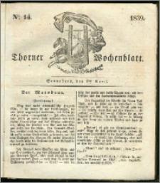 Thorner Wochenblatt 1839, Nro. 14 + Beilage, Thorner wöchentliche Zeitung