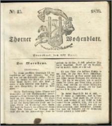 Thorner Wochenblatt 1839, Nro. 15 + Beilage, Zweite Beilage, Thorner wöchentliche Zeitung