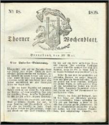 Thorner Wochenblatt 1839, Nro. 18 + Beilage, Thorner wöchentliche Zeitung