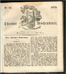 Thorner Wochenblatt 1839, Nro. 20 + Beilage, Thorner wöchentliche Zeitung