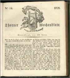 Thorner Wochenblatt 1839, Nro. 24 + Beilage, Thorner wöchentliche Zeitung