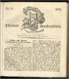 Thorner Wochenblatt 1839, Nro. 25 + Beilage, Thorner wöchentliche Zeitung
