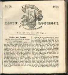 Thorner Wochenblatt 1839, Nro. 26 + Beilage, Thorner wöchentliche Zeitung