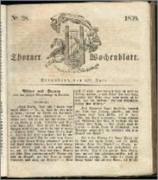 Thorner Wochenblatt 1839, Nro. 28 + Beilage, Zweite Beilage, Thorner wöchentliche Zeitung