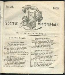 Thorner Wochenblatt 1839, Nro. 31 + Beilage, Thorner wöchentliche Zeitung