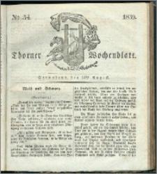Thorner Wochenblatt 1839, Nro. 34 + Beilage, Thorner wöchentliche Zeitung