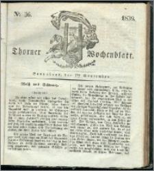 Thorner Wochenblatt 1839, Nro. 36 + Beilage, Thorner wöchentliche Zeitung