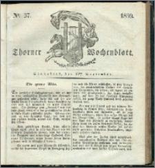 Thorner Wochenblatt 1839, Nro. 37 + Beilage, Thorner wöchentliche Zeitung