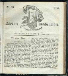 Thorner Wochenblatt 1839, Nro. 39 + Beilage, Thorner wöchentliche Zeitung